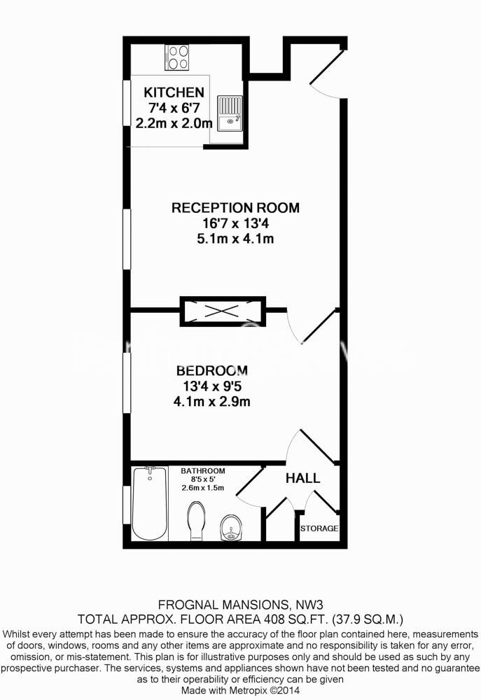 1 bedroom(s) flat to rent in Frognal, Hampstead, NW3-Floorplan