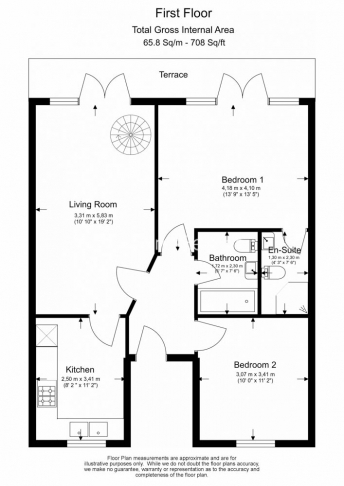 2 bedroom(s) flat to rent in Parkhill Road, Belsize Park, NW3-Floorplan