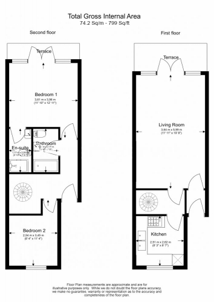 2 bedroom(s) flat to rent in Parkhill Road, Hampstead, NW3-Floorplan