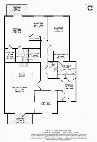 4 bedroom(s) flat to rent in Finchley Road, Golders Green, NW11-Floorplan