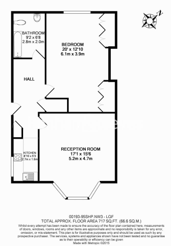 1 bedroom(s) flat to rent in South Hill Park, Hampstead Heath, NW3-Floorplan