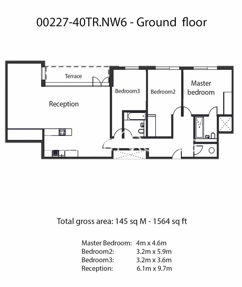 3 bedroom(s) flat to rent in Maygrove Road, West Hampstead, NW6-Floorplan