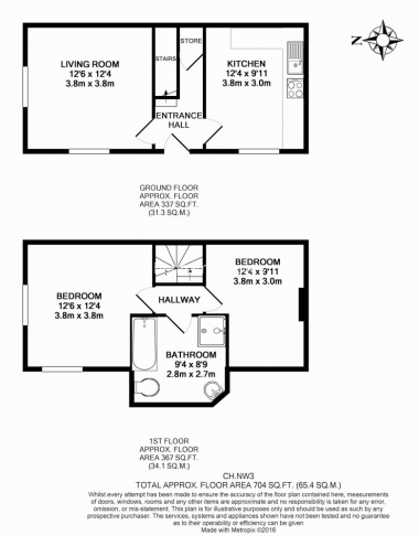 2 bedroom(s) house to rent in Christchurch Hill, Hampstead Village, NW3-Floorplan
