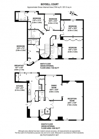 5 bedroom(s) house to rent in Boydell Court, St John's Wood, NW8-Floorplan