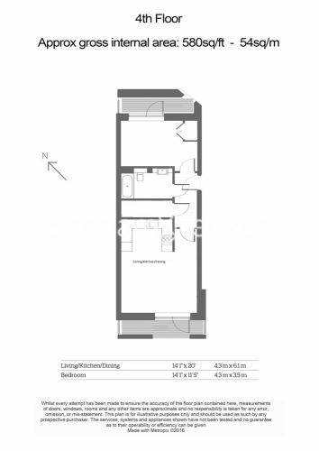 1 bedroom(s) flat to rent in Fellow Square, Cricklewood, NW2-Floorplan