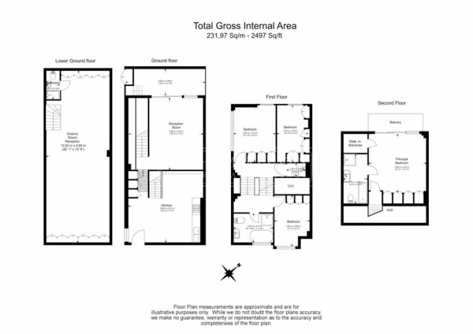 4 bedroom(s) house to rent in Trinity Walk, Hampstead, NW3-Floorplan