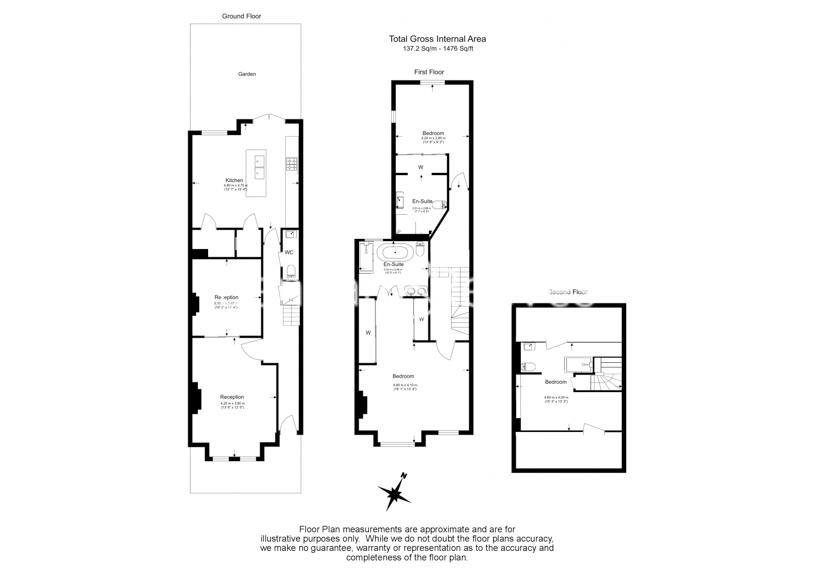 3 bedroom(s) house to rent in Glengall Road, Queens Park, NW6-Floorplan