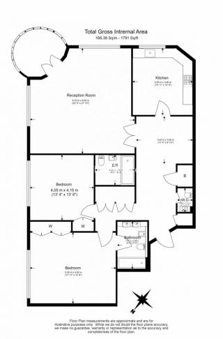 2 bedroom(s) flat to rent in The Terraces, St Johns Wood, NW8-Floorplan