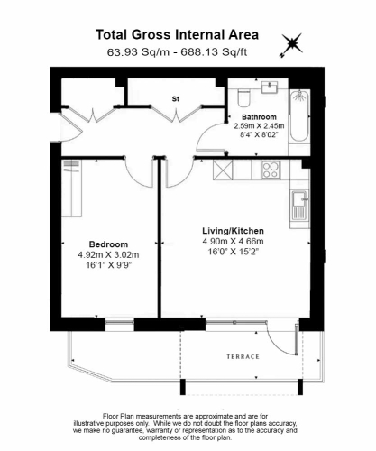 1 bedroom(s) flat to rent in Buttercup apartments, Mill Hill East, NW7-Floorplan