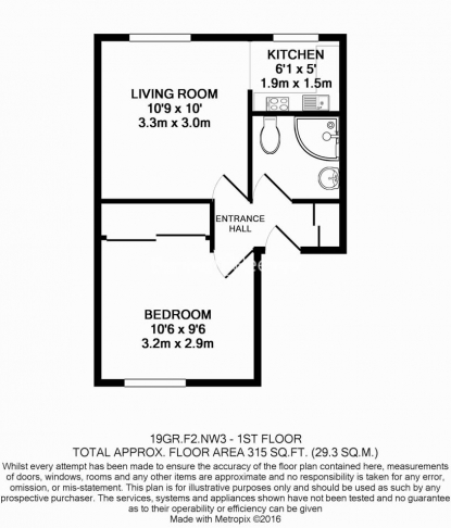 1 bedroom(s) flat to rent in Gardnor road, Hampstead, NW3-Floorplan
