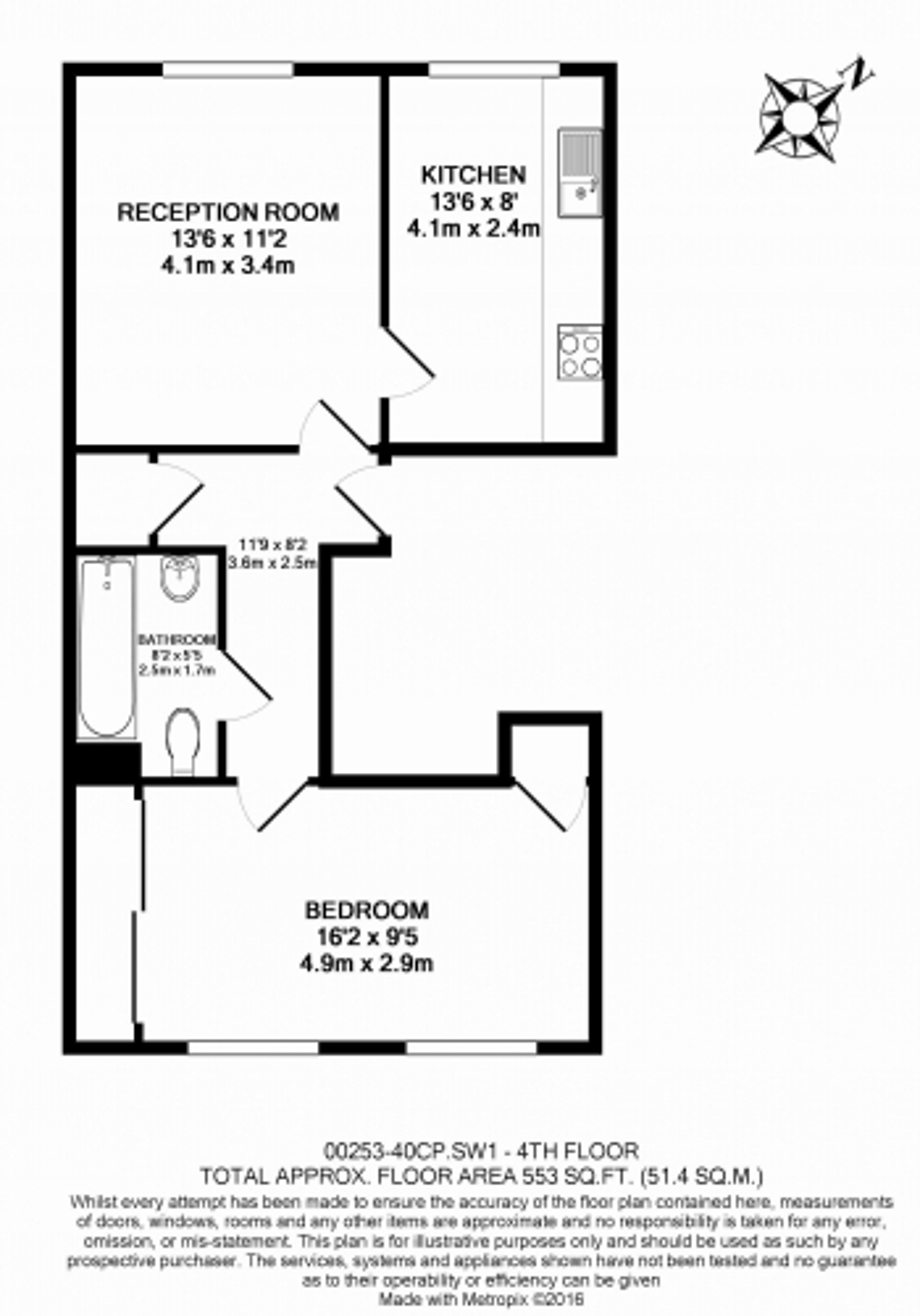 1 bedroom(s) flat to rent in Cadogan Place, Belgravia, SW1X-Floorplan