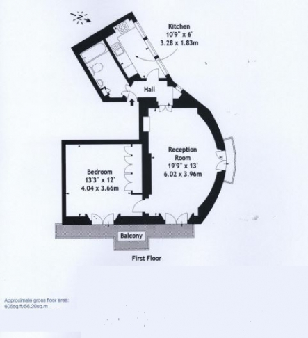 1 bedroom(s) flat to rent in St. George's Square, Pimlico, SW1-Floorplan