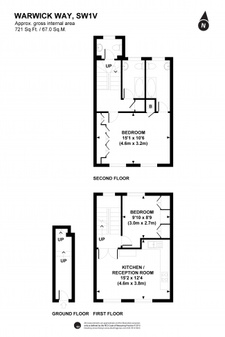 2 bedroom(s) flat to rent in Warwick Way, Victoria, SW1-Floorplan