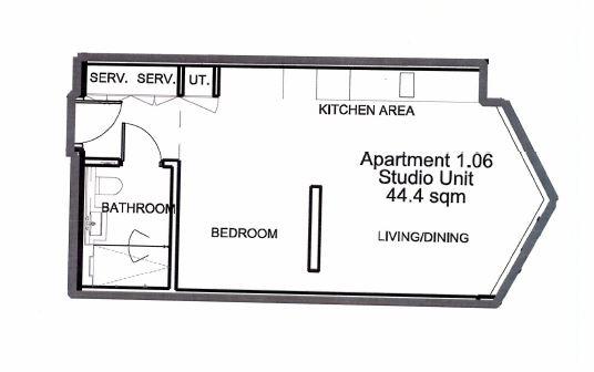Studio flat to rent in Kings Gate Walk, Victoria, SW1E-Floorplan
