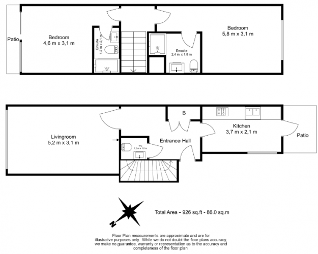 2 bedroom(s) flat to rent in Longmoore Street, Victoria, SW1V-Floorplan