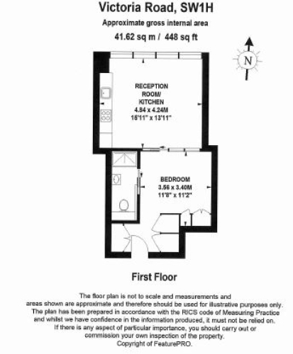 Studio flat to rent in Victoria Street, Westminster, SW1H-Floorplan