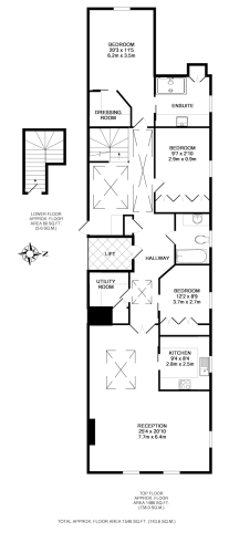 3 bedroom(s) flat to rent in Ennismore Gardens, Knightsbridge, SW7-Floorplan