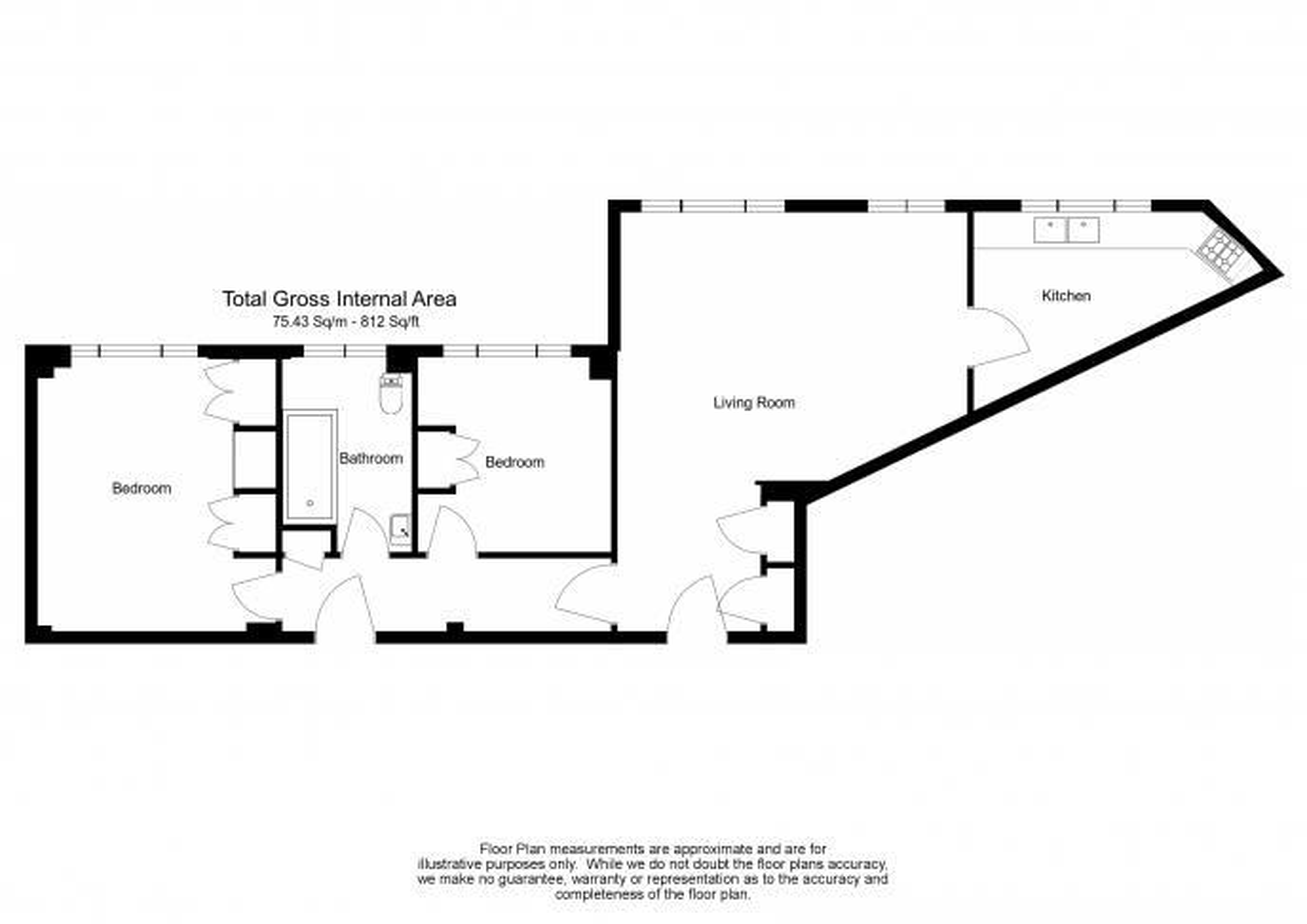 2 bedroom(s) flat to rent in Hill Street, Mayfair, W1J-Floorplan