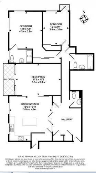 2 bedroom(s) flat to rent in Kingston House South, Knightsbridge, Sw7-Floorplan
