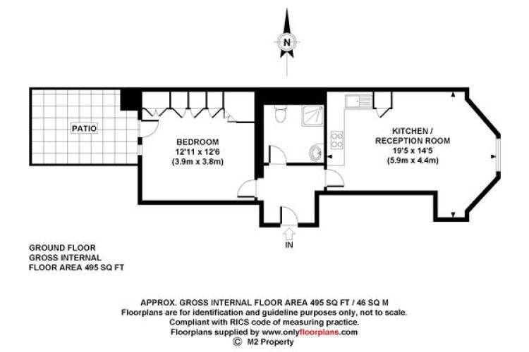1 bedroom(s) flat to rent in Ashburn Gdns, Kensington, SW7-Floorplan