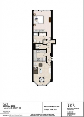 1 bedroom(s) flat to rent in Young Street, Holland Park, W8-Floorplan
