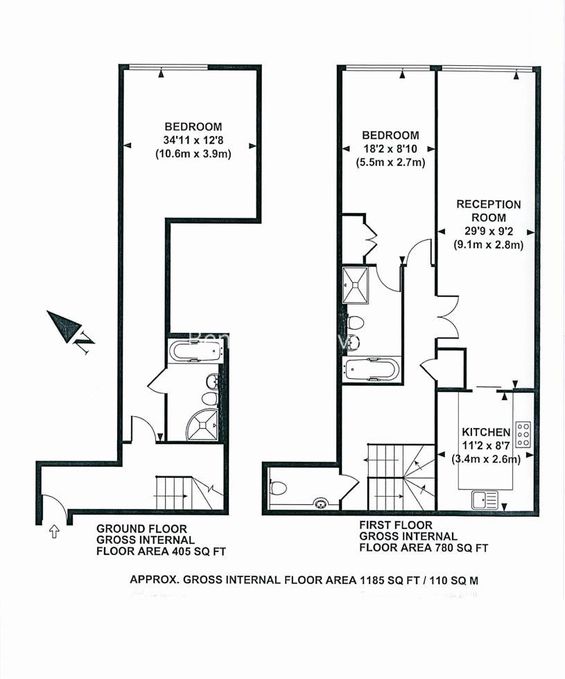 2 bedroom(s) flat to rent in Young Street, Kensington, W8-Floorplan