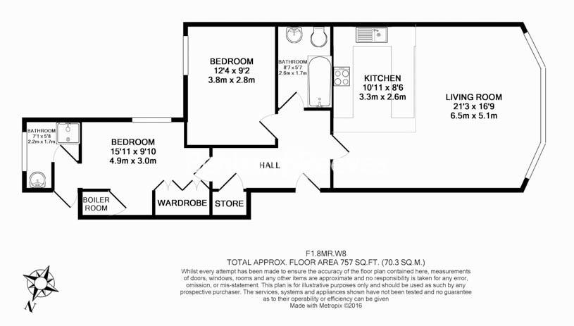 2 bedroom(s) flat to rent in Marloes Road, Kensington, W8-Floorplan