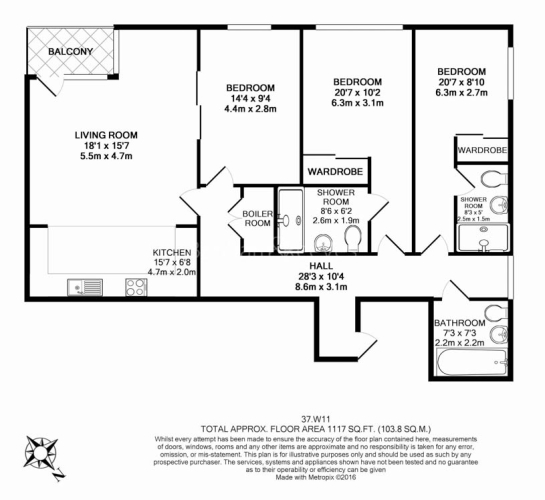 3 bedroom(s) flat to rent in Holland Park Avenue, Kensington, W11-Floorplan