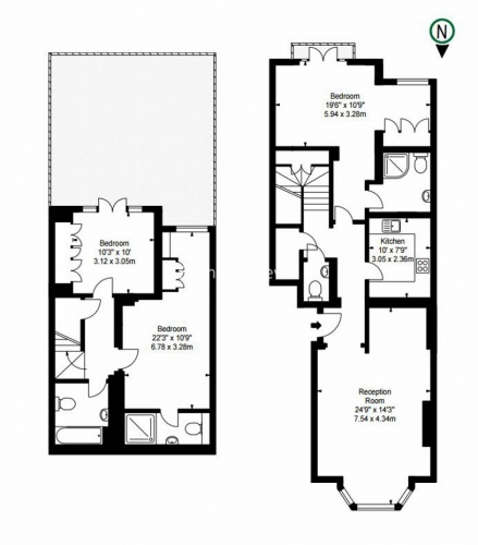 3 bedroom(s) flat to rent in Lexham Gardens, Kensington, W8-Floorplan