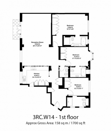 3 bedroom(s) flat to rent in Addison Road, Holland Park, W14-Floorplan