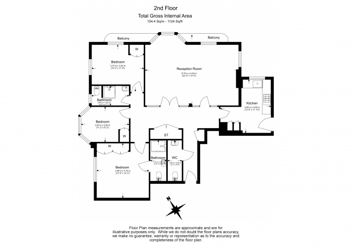 3 bedroom(s) flat to rent in Marlborough Court, Pembroke Road, W8-Floorplan