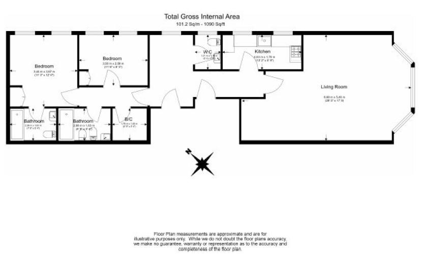 2 bedroom(s) flat to rent in Kensington Court, Kensington, W8-Floorplan