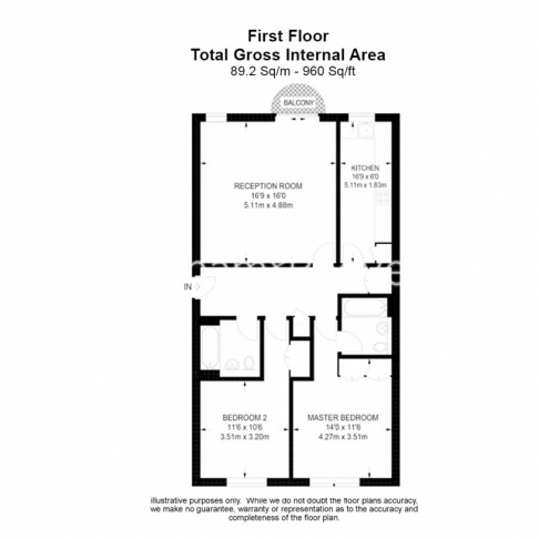 2 bedroom(s) flat to rent in Huntsmore House, Pembroke Road, W8-Floorplan