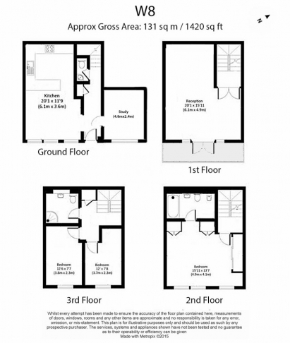 3 bedroom(s) house to rent in Canning Place Mews, Kensington, W8-Floorplan