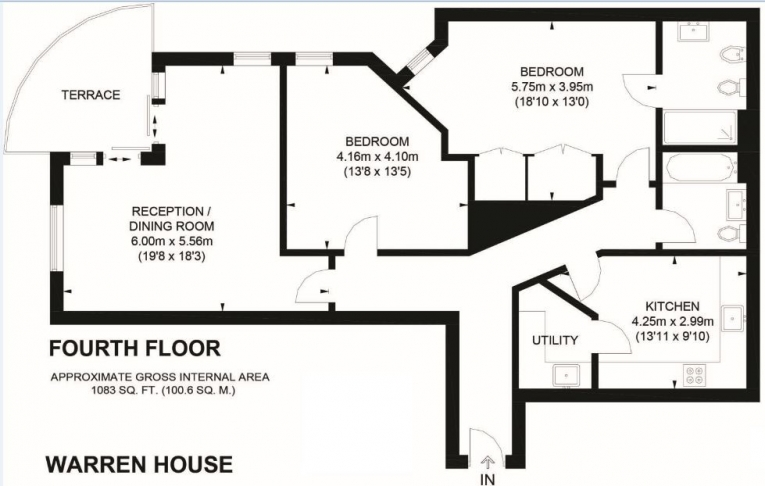 2 bedroom(s) flat to rent in Beckford Close, Kensington, W14-Floorplan