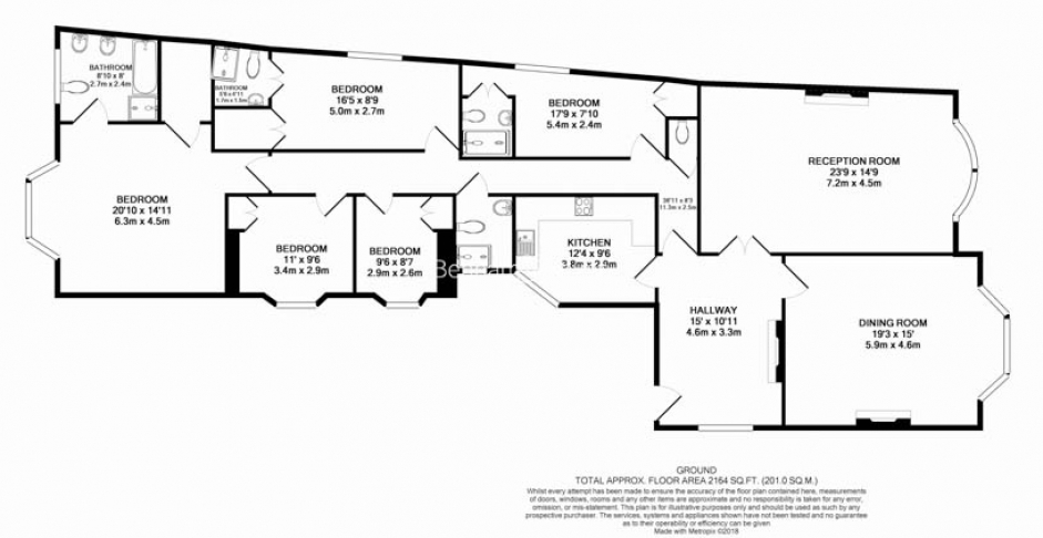 5 bedroom(s) flat to rent in Hyde Park Gate, Kensington, SW7-Floorplan