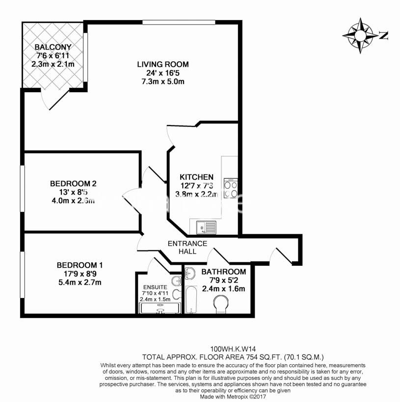 2 bedroom(s) flat to rent in Warren House, West Kensington, W14-Floorplan