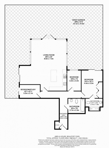 3 bedroom(s) flat to rent in Boulevard Drive, Colindale, NW9-Floorplan