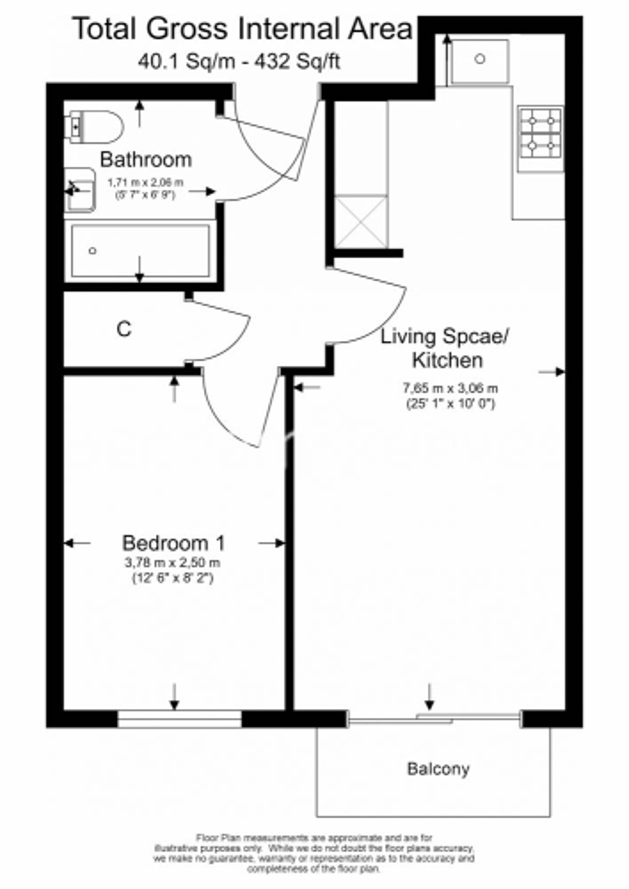 1 bedroom(s) flat to rent in Aerodrome Road, Colindale, NW9-Floorplan