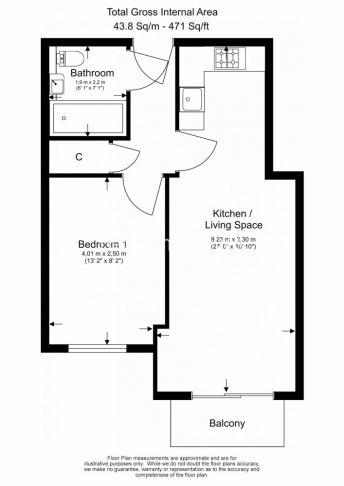 1 bedroom(s) flat to rent in Aerodrome Road, Colindale, NW9-Floorplan