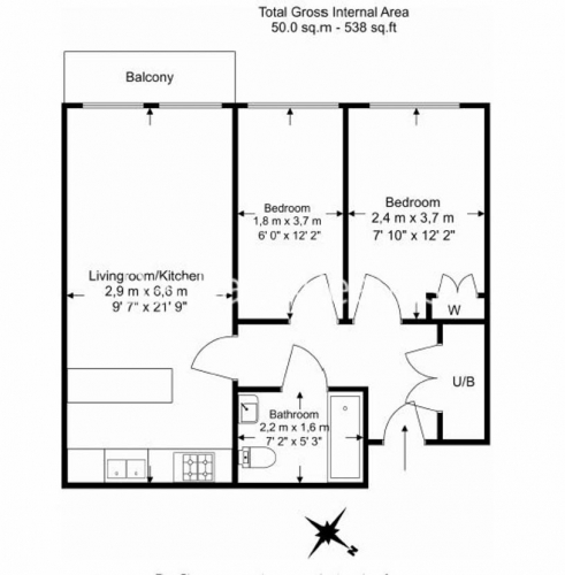 2 bedroom(s) flat to rent in Heritage Avenue, Beaufort Park, NW9-Floorplan