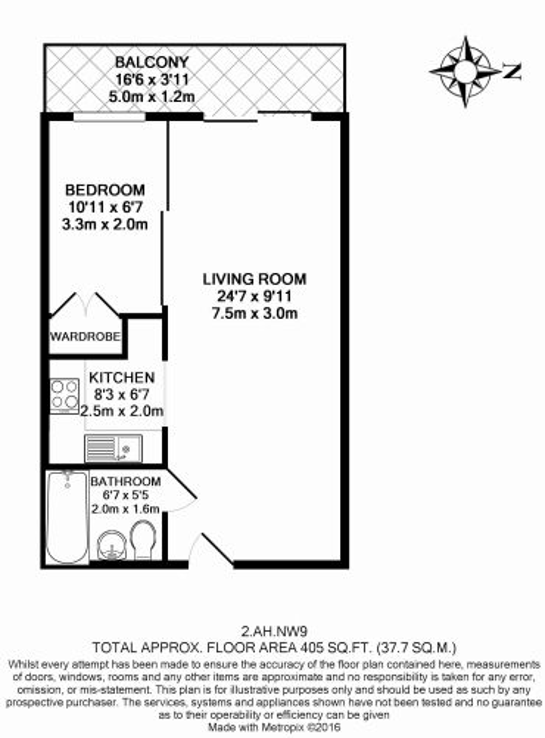 1 bedroom(s) flat to rent in Boulevard Drive, Colindale, NW9-Floorplan