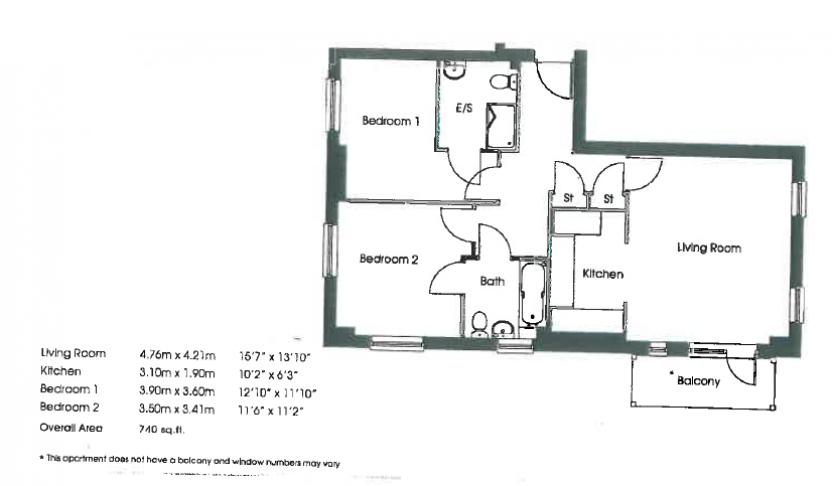 2 bedroom(s) flat to rent in The Pulse, Colindale, NW9-Floorplan