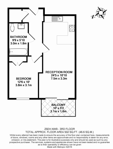 1 bedroom(s) flat to rent in East Drive, Colindale, NW9-Floorplan