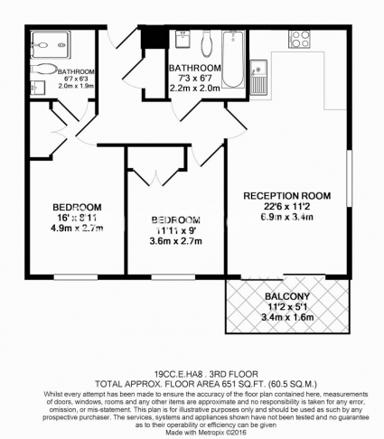 2 bedroom(s) flat to rent in Zodiac Close, Edgware, HA8-Floorplan