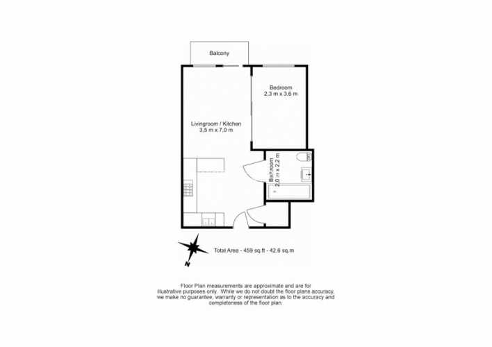 Studio flat to rent in Beaufort Square, Colindale, NW9-Floorplan