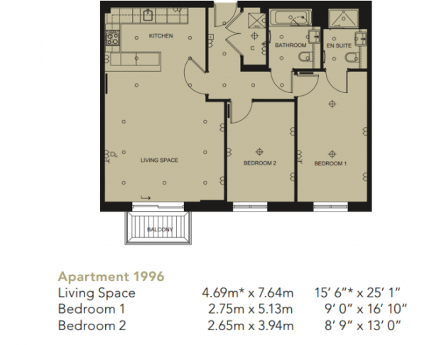 2 bedroom(s) flat to rent in Beaufort Square, Colindale, NW9-Floorplan