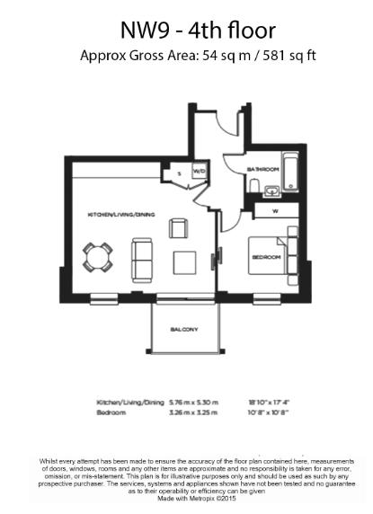 1 bedroom(s) flat to rent in Lismore Boulevard, Colindale, NW9-Floorplan