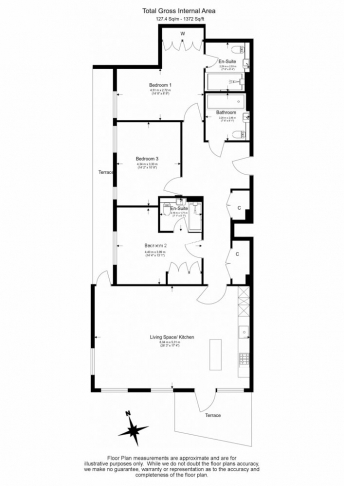 3 bedroom(s) flat to rent in Caversham Road, Colindale, NW9-Floorplan
