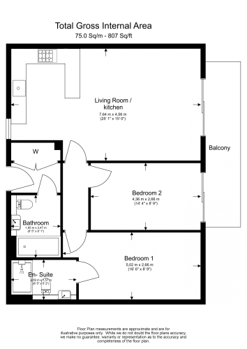 2 bedroom(s) flat to rent in Aerodrome Road, Colindale, NW9-Floorplan
